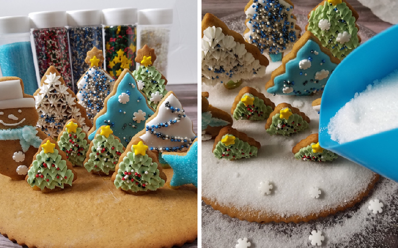 winter cookies, gingerbead centerpiece