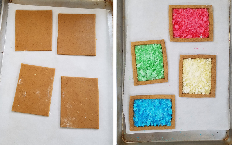 stained glass cookies, gingerbread, christmas