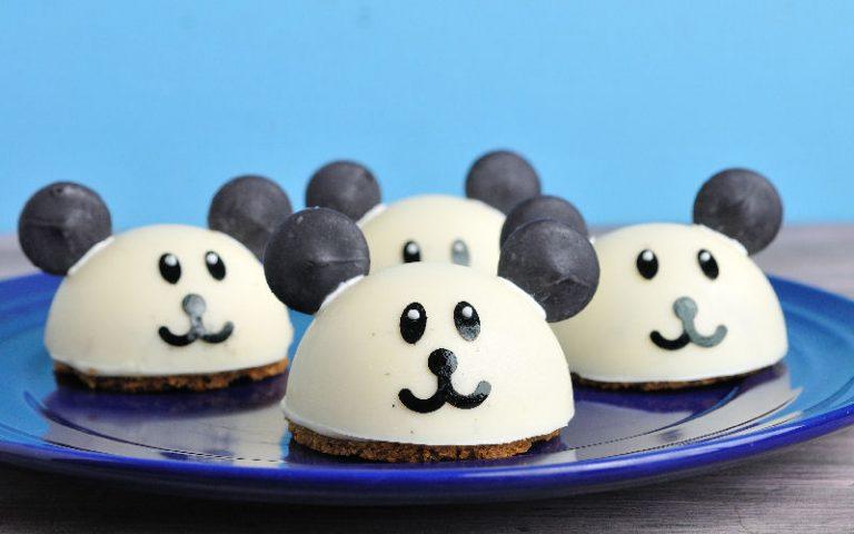Panda Marshmallow Banana Cheesecakes