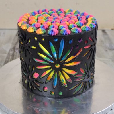how to make rainbow scratch art cake