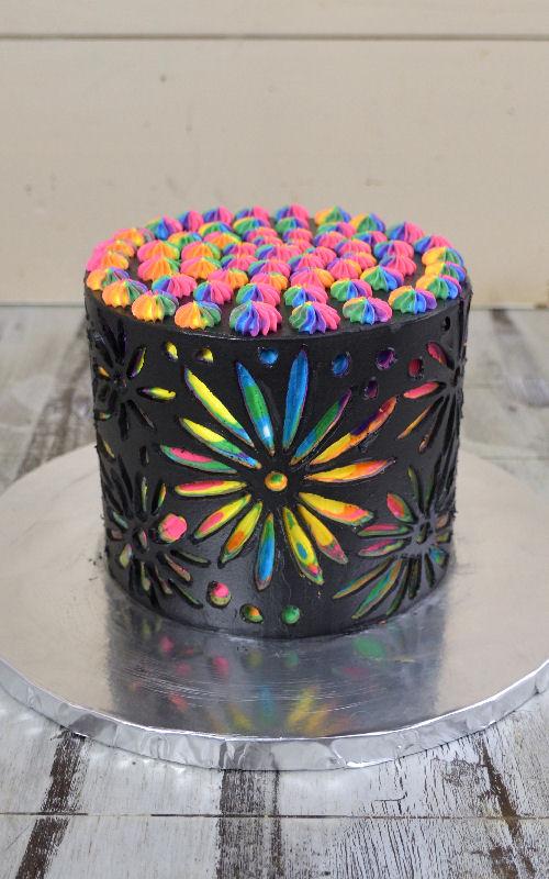 Scratch Art Cake