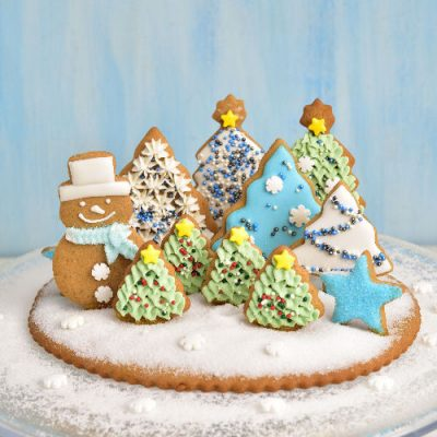christmas cookie centerepiece