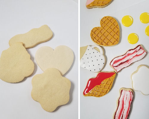 How to decorate waffle cookies