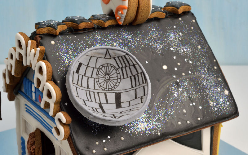 star wars gingerbread house