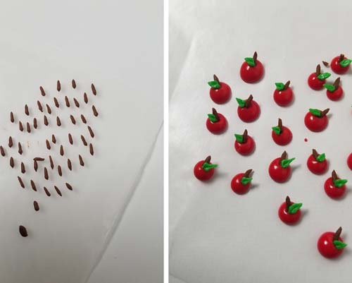 how to make royal icing apples