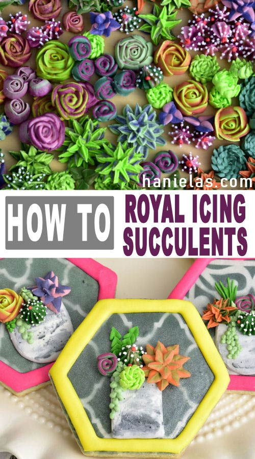 Royal icing succulents.