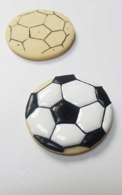 learn how to make soccer ball cookies
