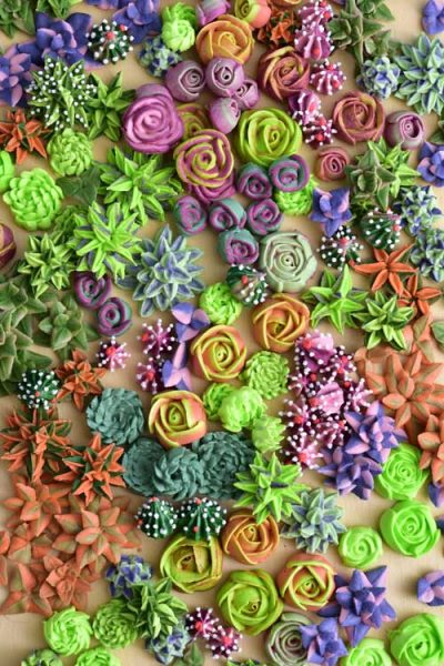 how to make royal icing succulents