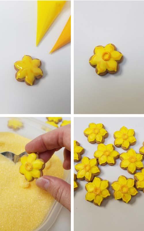 How to make Daffodil Cookies