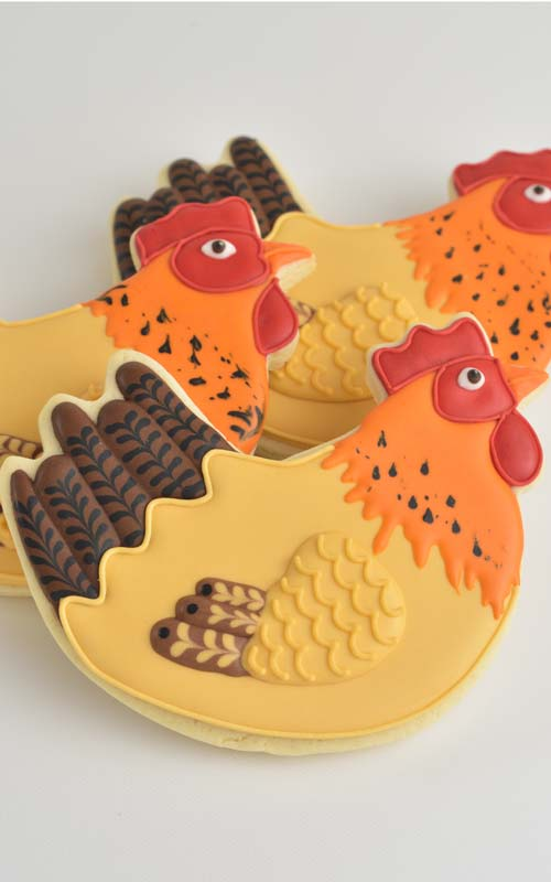 How to decorate Hen Cookies with royal icing