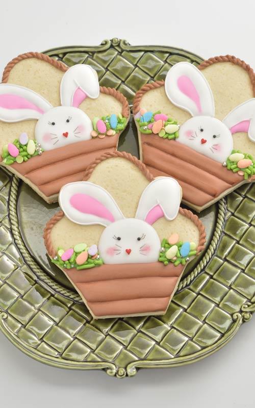 Easter Bunny Basket Cookies