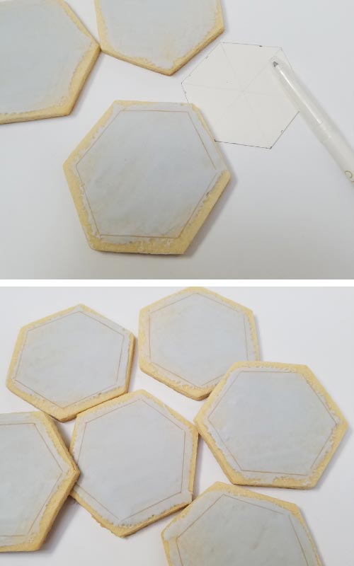 hexagon sugar cookies