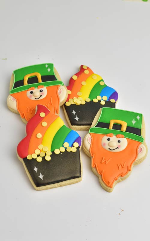 Pot Of Gold and Leprechaun Cookies