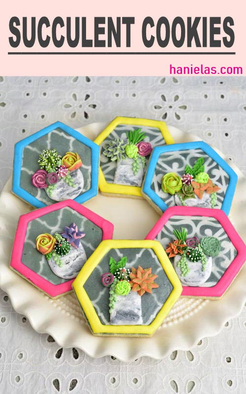 make succulent decorated cookies