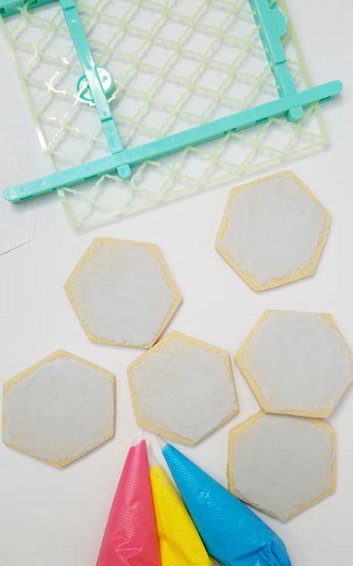 hexagon cookies
