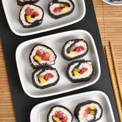 how to make chocolate dessert sushi