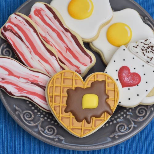 Decorate Breakfast Cookies with Royal Icing
