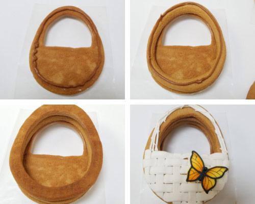 Basket Weave royal icing cookies