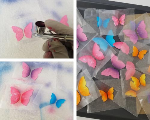 airbrushed royal icing butterflies