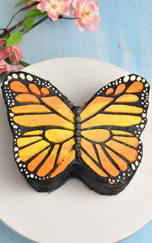 How To Make Buttercream Butterfly Cake Template Haniela S