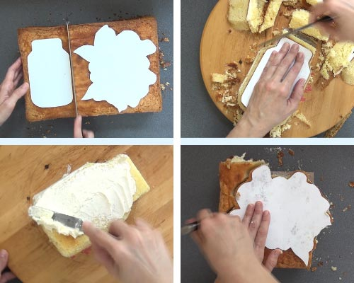 carving a cake