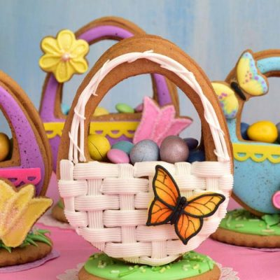 Basket Weave 3D Easter Egg Cookie filled with candies