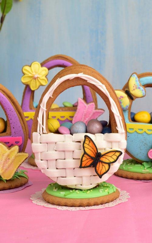 3D Easter Basket Cookies