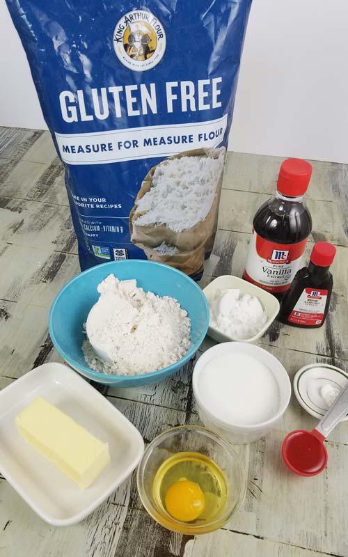 ingredients for gluten free cookies