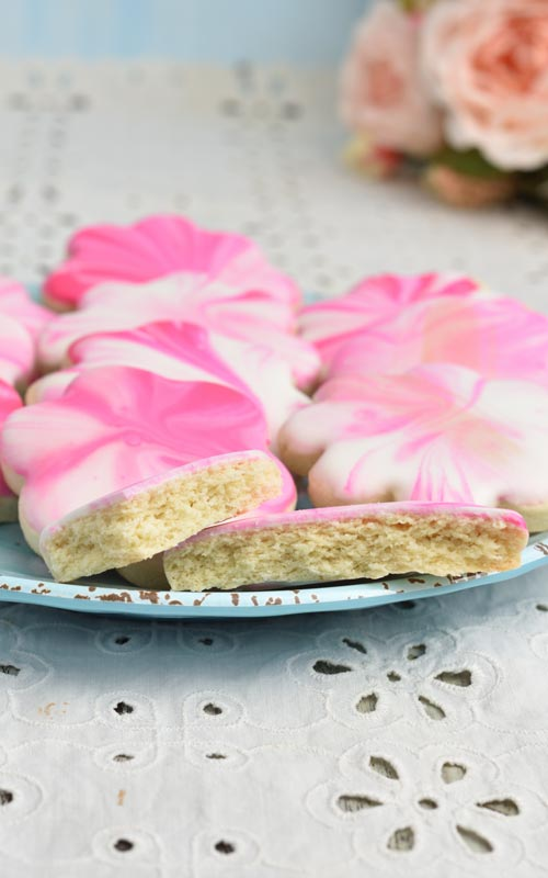 cut out gluten free cookies on a plate