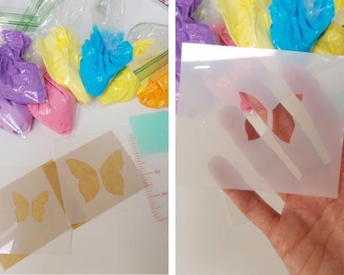 butterfly stencil from plastic stencil sheet
