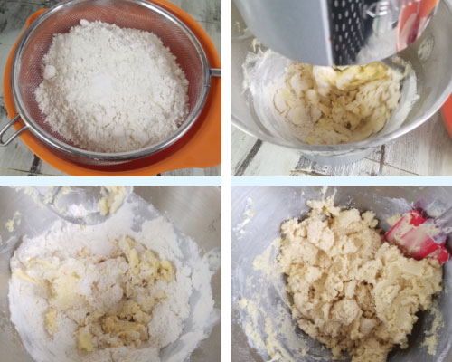 mixing cookie dough with the mixer