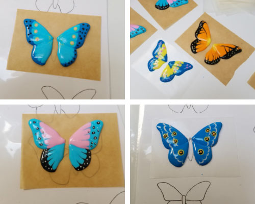 royal icing piped butterfly wings