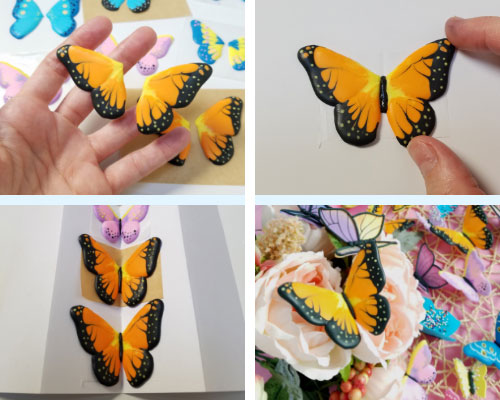 monarch royal icing butterflies