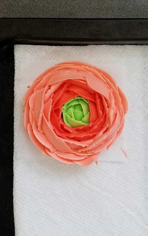 peach buttercream ranunculus flowers