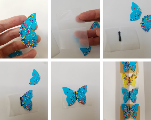 drying tray for royal icing butterflies