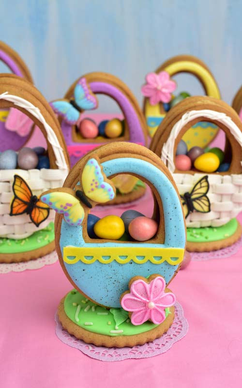 3D Easter Basket Cookie filled with candies