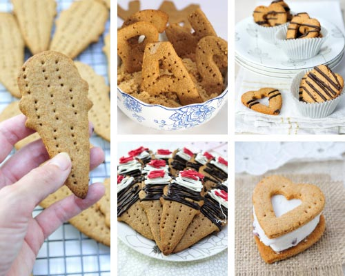 cut out graham cracker cookies
