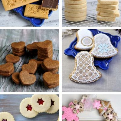 Cut out decorated cookies.