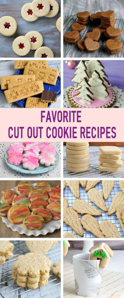 collection of cut out cookies