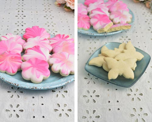pink marbled gluten free cut out cookies