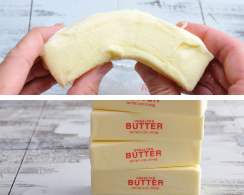 Stick of butter at room temperature.