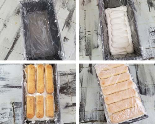 ladyfingers layered with baileys cream filling