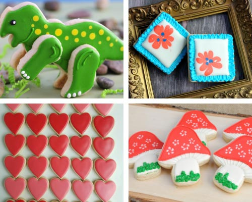 decorated cookies iced with 15 second royal icing consistency