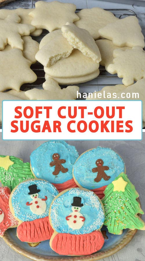 Soft Cut Out Sugar Cookies With Buttercream Frosting Haniela S