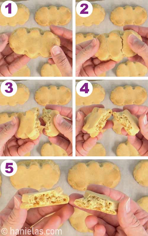 Showing texture of baked cookies.