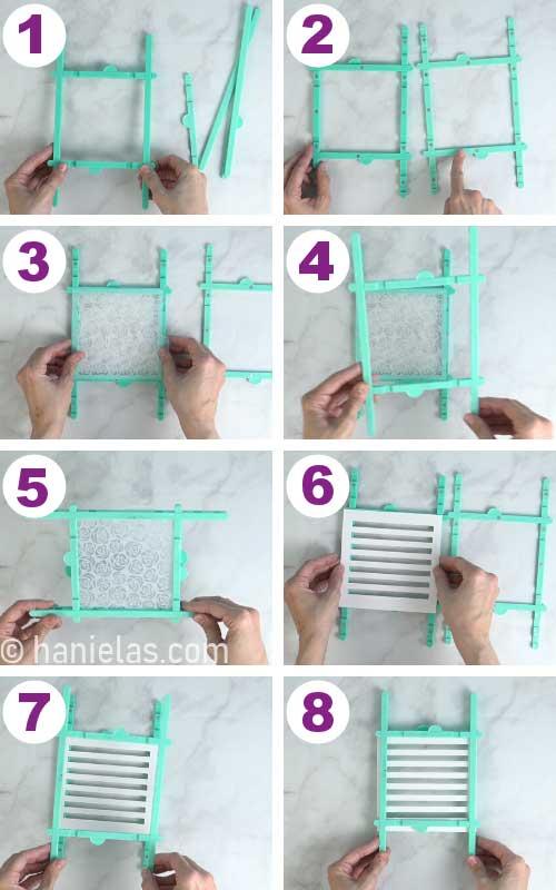 Assembling a stencil holder.