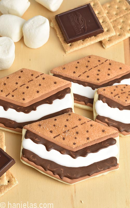 Decorated S'mores Cookies