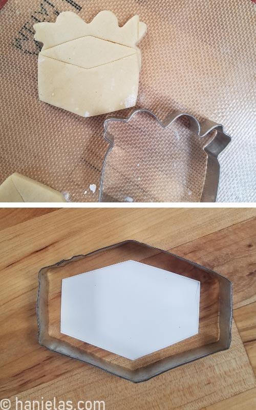 Metal cookies cutters.