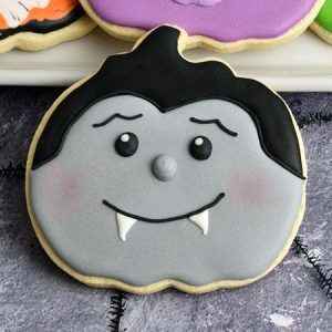 Dracula decorated sugar cookies.